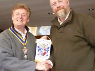 Tim with trustee Barry Theobald-Hicks, who is President of the Rotary Club of St Pancras
