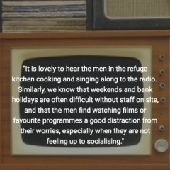 Feedback from our beneficiaries at a men's refuge centre