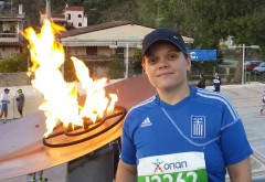 Amy Trakos Olympic flame