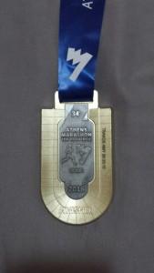 Amy's marathon medal