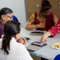 Survivors of domestic abuse using WaveLength tablet computers