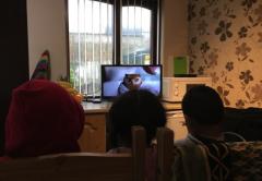 Families enjoying a WaveLength TV