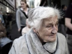 Minister for Loneliness - elderly lady in a crowd