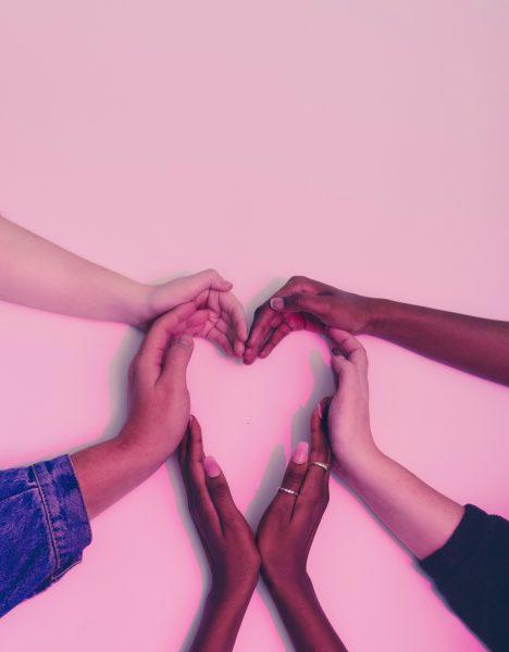 Hands creating a heart