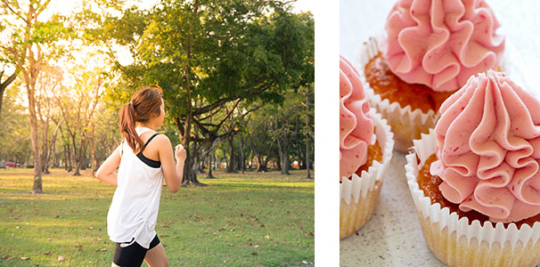 Runner and cakes