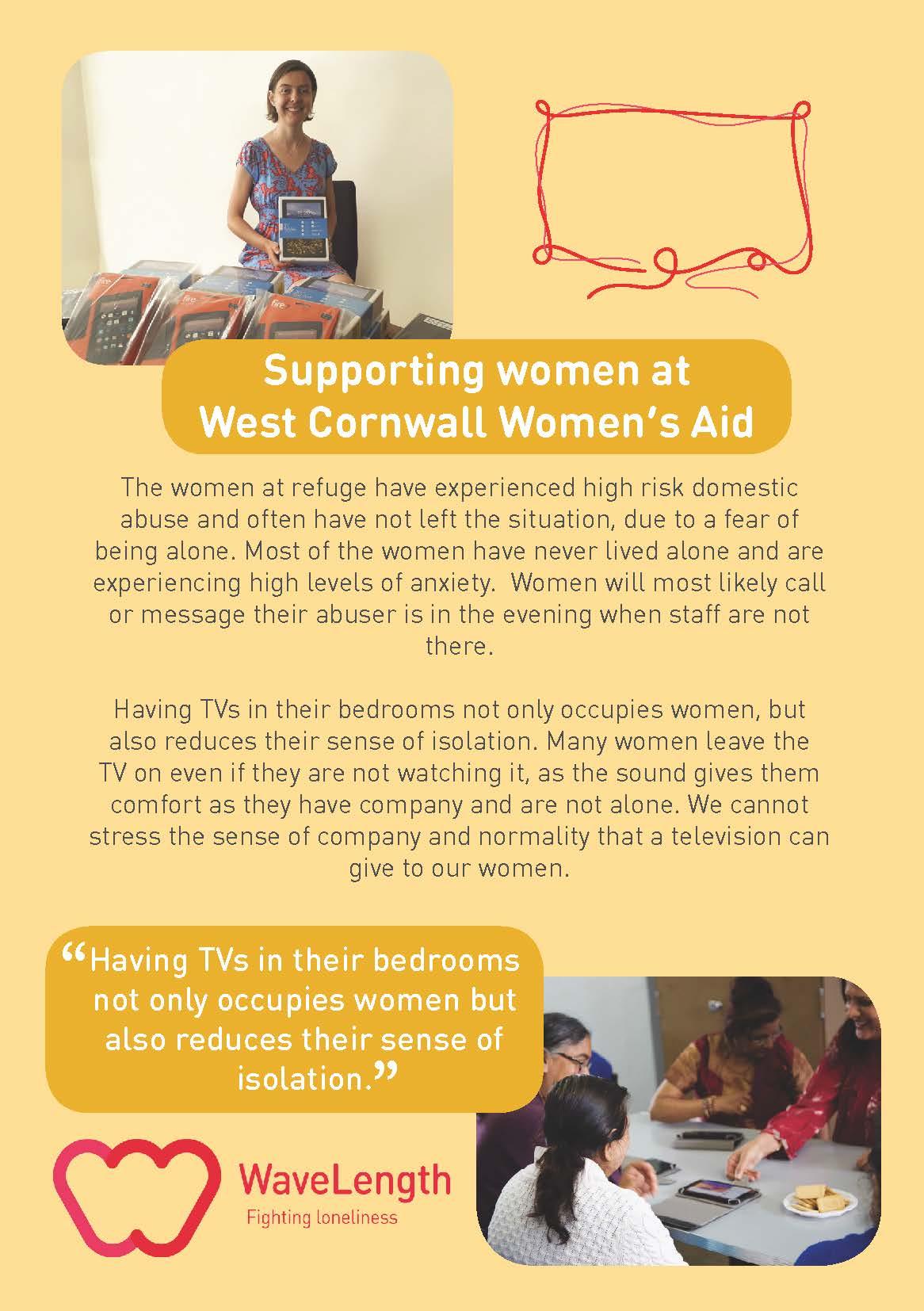 West Cornwal Women's Aid WaveLength Case-Study